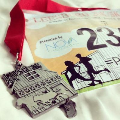 leesburg 20k medal