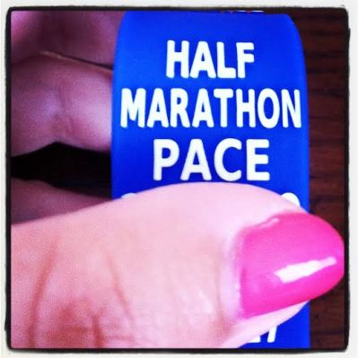 My Paceband with my goal finish time for Rock 'n' Roll Virginia Beach arrived on Thursday
