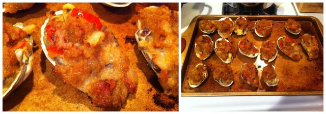 Tuesday evening, looks were deceiving, as the stuffed clams we made didn't taste as great as they looked