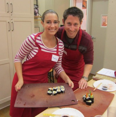 Preston and I at a sushi class at Sur La Table in 2012