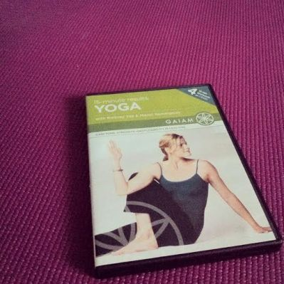 I practiced yoga for the first time in almost a month on Wednesday