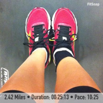 2.42 miles was about all that my body could handle for the first time running in five days
