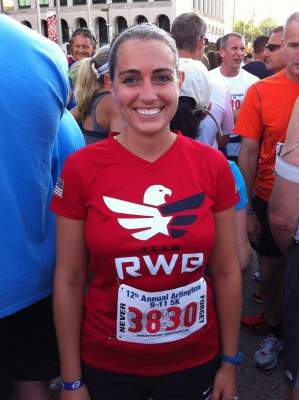 At the start line before last year's 9/11 Race