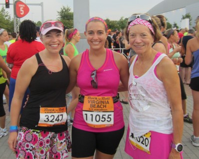 With Christine and Pam before the start of the race