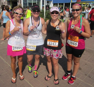 Post race with Pam, Megan, and Christine