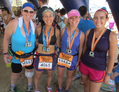 Post race with Heather, Lacey, and Meranda