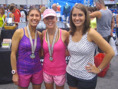 With Lacey and Meranda, who ran the Mile on the Sand before we met up at the expo