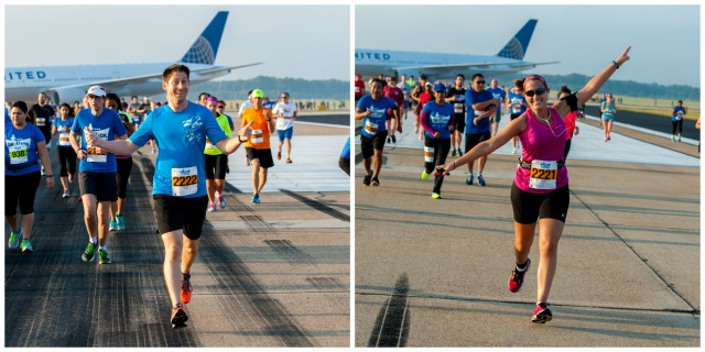 As you can see, Preston and I both had a blast running on the runway! Photo Credit: Potomac River Running
