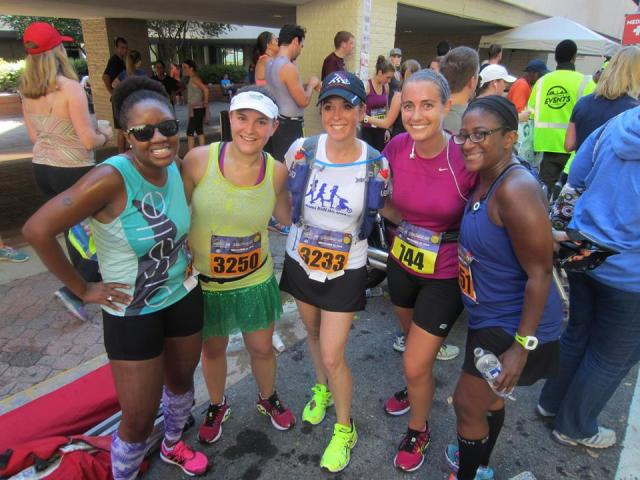 With Courtney from Eat Pray Run DC, Julie from Diving into the Gene Pool, Sue from This Mama Runs for Cupcakes, and Mar from Mar on the Run