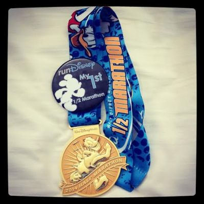 wdw half medal
