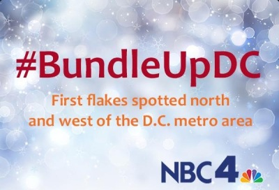 Its hard to believe that on November 13th that the first snow flakes were spotted in the DC area!