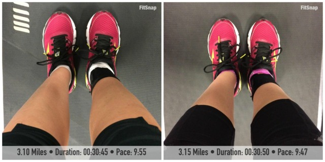 I successfully completed two sub 10:00 min/mile runs on the treadmill this week!