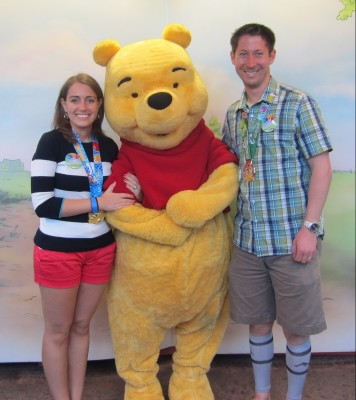 With Winnie the Pooh in January 2014