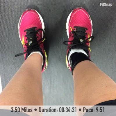 3.5 mile run