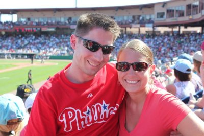 At our first Phillies Spring Training game in Clearwater in February 2011