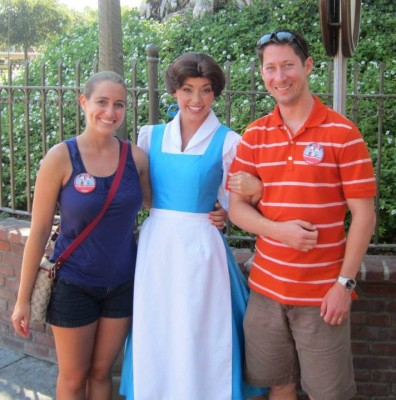 With my favorite Disney Princess at Disneyland in July 2013