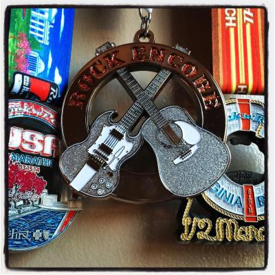 My three 2014 Rock 'n' Roll medals, including my Rock Encore medal that I earned for running two Rock 'n' Roll races in one year