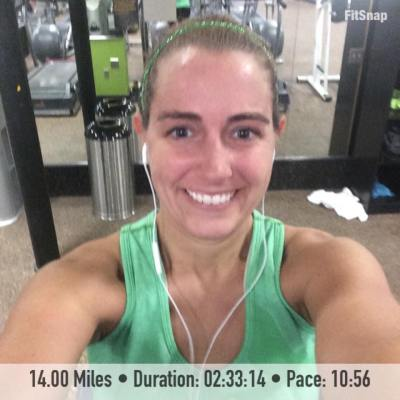 After setting my 14 mile PDR on the treadmill back in March