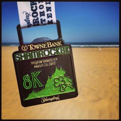 shamrock 8k medal