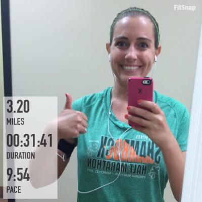 Feeling great after last night's strong treadmill run