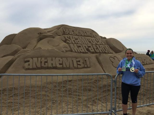 It was fun to travel to Virginia Beach for the Shamrock Half Marathon in March 2015