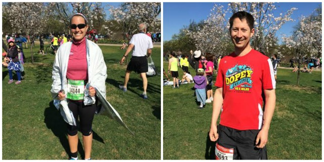 Despite the lack of food, Preston and I both enjoyed the gorgeous weather at the end of the race