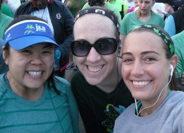 Jenny, Kathleen, and I awaiting the start of the race