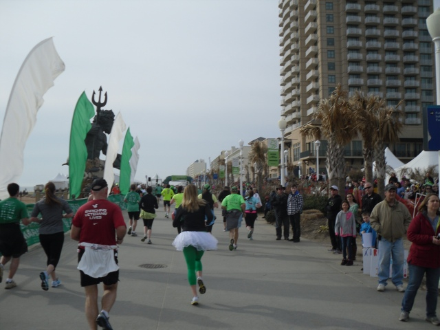Nearing the finish line on the boardwalk