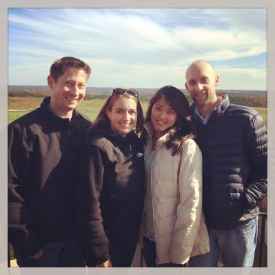 With our friends Jen and Jason wine tasting in Charlottesville over Veteran's Day weekend last November