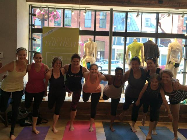 Having some fun before class started Photo Credit: Deborah from Confessions of a Mother Runner