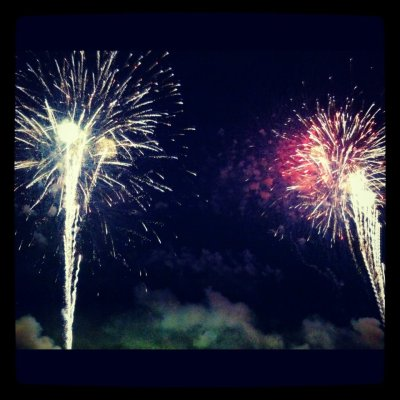 My view of the fireworks in 2012