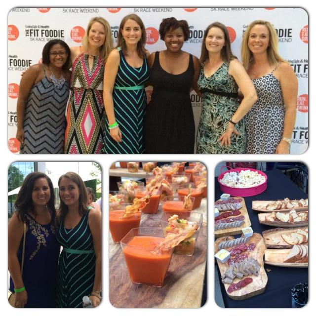 At the Fit Foodie VIP Party Friday evening with Mar, Amy, Courtney, Erika, Sue, and my friend Becca