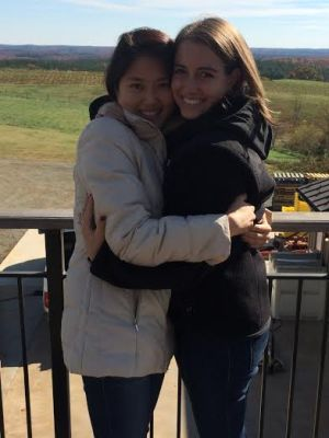 Jen and I during a wine tasting weekend in Charlottesville last fall