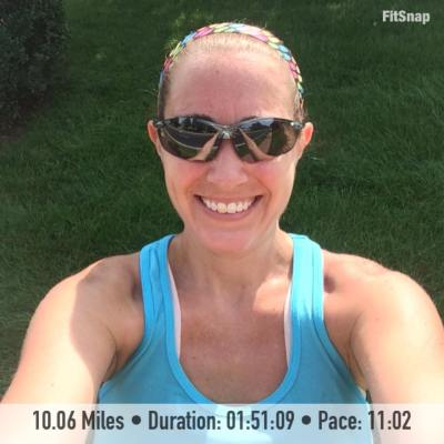 Even with running a hilly route, I was able to maintain an 11:02 average pace during yesterday's long run!