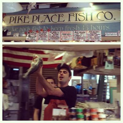 We loved watching the flying fish at Pike Place Market