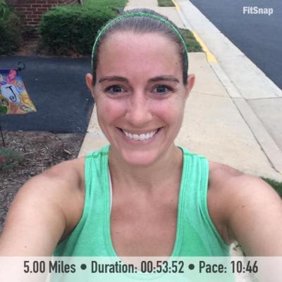 Despite a busy week and my ongoing calf pain, I finished out the weekend yesterday with a 5 mile run
