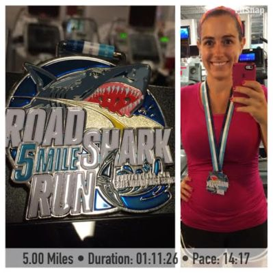 After my last virtual race, the Road Shark Virtual 5 Mile Race