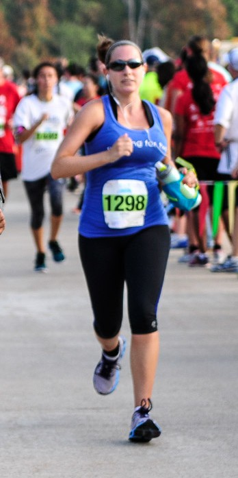 Running at the Dulles Day 5k about three weeks ago Photo Credit: Potomac River Running