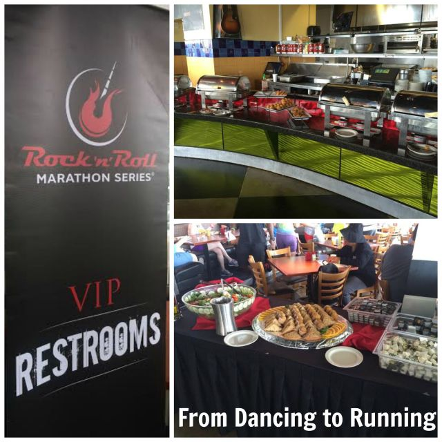 Some of the VIP amenities post race at Rockfish
