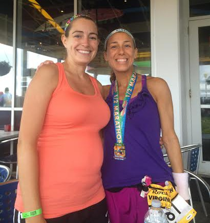 Lacey and I at Rockfish post race