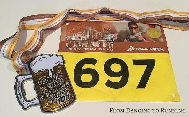 bib and medal