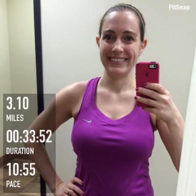 So excited that I've already met one of my February goals - to run a sub-34 minute 5k