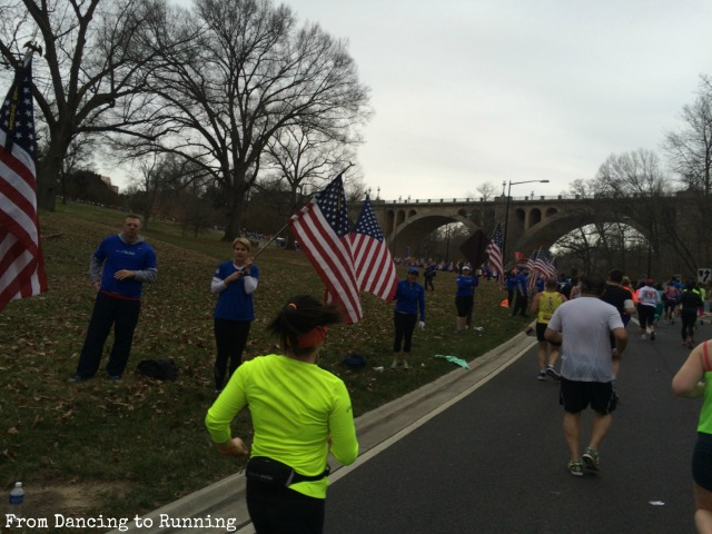 Running up Calvert Hill with Wear Blue to Remember encouraging and supporting runners along the course