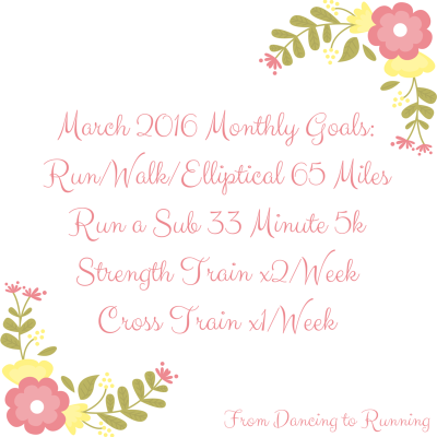 March 2016 Monthly Goals