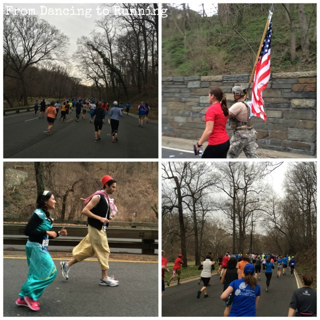 Some of the sights while running through Rock Creek Park, which included a couple dressed as Jasmine and Aladdin