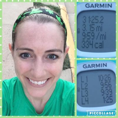 I must have had the luck of the Irish on my side for my St. Patrick's Day run Thursday evening. I haven't seen stats like these since sometime last summer.