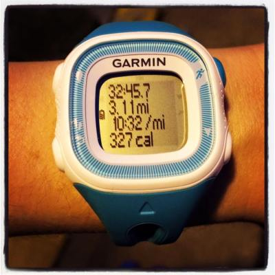My Garmin stats from my March 8th run when I met my sub 33 minute 5k goal