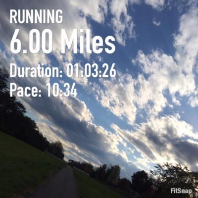 6.00 mile run