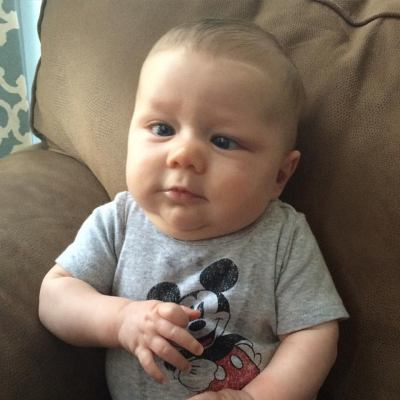 To celebrate a great first day, little man wore his Mickey Mouse onesie while we went for our mommy-baby walk