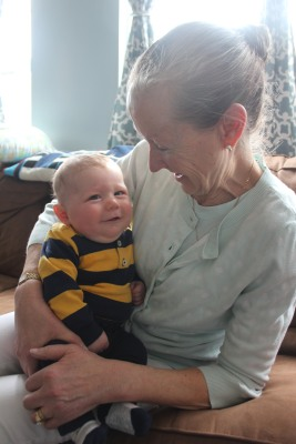 Little man and Grammie (my mom) last month